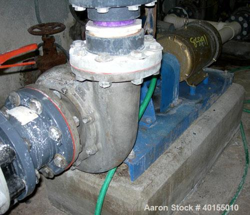 "Used:  Crane Deming centrifugal pump, size 5MD, model 4021-3071, 316 stainless steel. 6"" inlet, 4"" outlet. Approximate capac..."