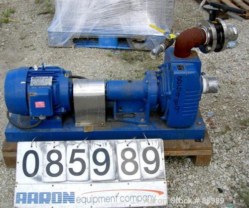 USED: Barnes centrifugal pump, model 15ICU-1, cast iron. Approximate capacity 250 gallons per minute at 2600 rpm at 70' head...