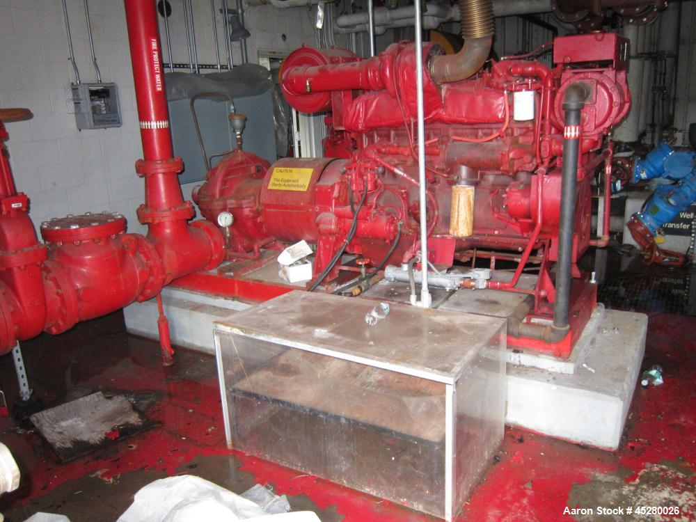 Used-Cummins Fire Pump Systems with Controls