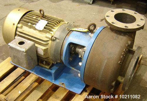 Used-Discflo Centrifugal Pump, Model 806-14-2D. Rated for 400 gpm at 20 ft of head or 700 gpm at 15 ft of head. Close couple...