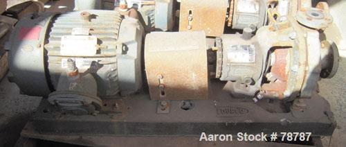 "Used- Durco Centrifugal Pump, Size 1J1.5/1L-6/54, Teflon lined ductile iron. 1-1/2"" Inlet, 1"" outlet. Rated 58 gallons per m..."