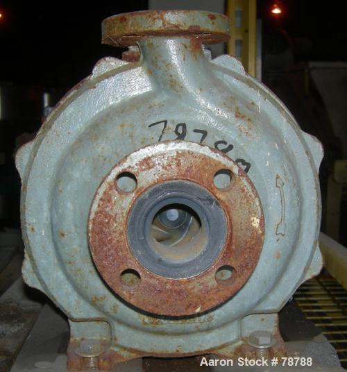 """Used- Durco Centrifugal Pump, Ductile iron. Size 1J1.5/6/54. 1-1/2"""" Inlet x 7/8"""" outlet. Approximately 58 gallons per minute..."""