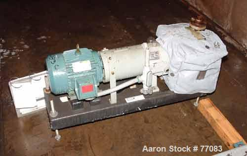 """Used- Durco Mark III Centrifugal Pump, Size 2K2X1-10A/80 RV, Carbon Steel. 2"""" Inlet, 1"""" outlet. Rated approximately 50 gallo..."""