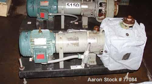 "Used- Durco Mark III Centrifugal Pump, Size 2K2X1-10A/80 RV, Carbon Steel. 2"" Inlet, 1"" outlet. Rated approximately 50 gallo..."