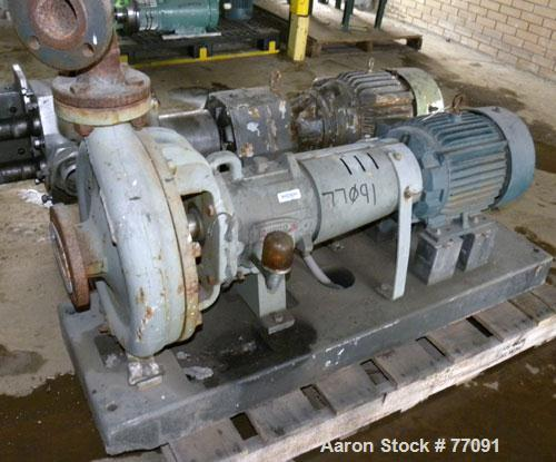 "Used- Durco Mark III Centrifugal Pump, Size 2K3X2-13/101 RV, Carbon Steel. 3"" Inlet, 2"" outlet. Rated approximately 150 gall..."