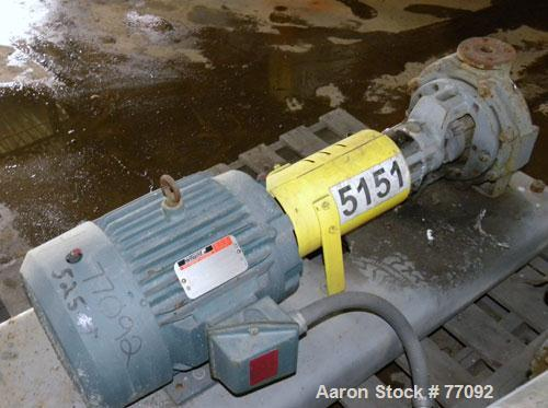 "Used- Durco Mark II Centrifugal Pump, Size 1.5X1-8/80, Carbon Steel. 1.5"" Inlet, 1"" outlet. Rated approximately 150 gallons ..."
