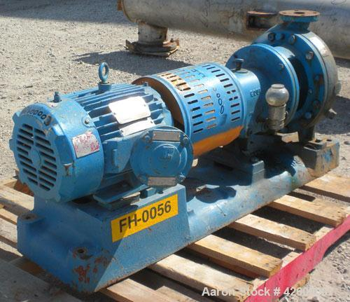 """Used- Goulds Centrifugal Pump, Model 3196, size 1.50X3-10, carbon steel. 3"""" Inlet, 1-1/2"""" outlet. Approximate 9-1/4"""" diamete..."""