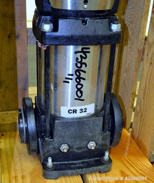 Used- Grundfos Vertical Multistage Centrifugal Pump, Type CR32-3-2 U-G-A-E-KUHE, Model A96425941P20407US343