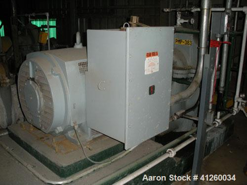 Used-Ingersoll-Rand Pump with electric motor, 8340 gpm, 300 hp motor, 4000V.