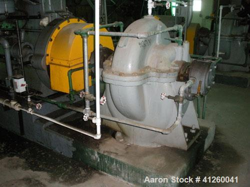 Used-Ingersoll-Rand Pump with natural gas motor, 8340 gpm, approximately 360 hp White Superior motor.