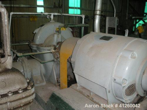 Used-Ingersoll-Rand Pump with electric motor, 8340 gpm, 300 hp Westinghouse, 460V, 1155 rpm.