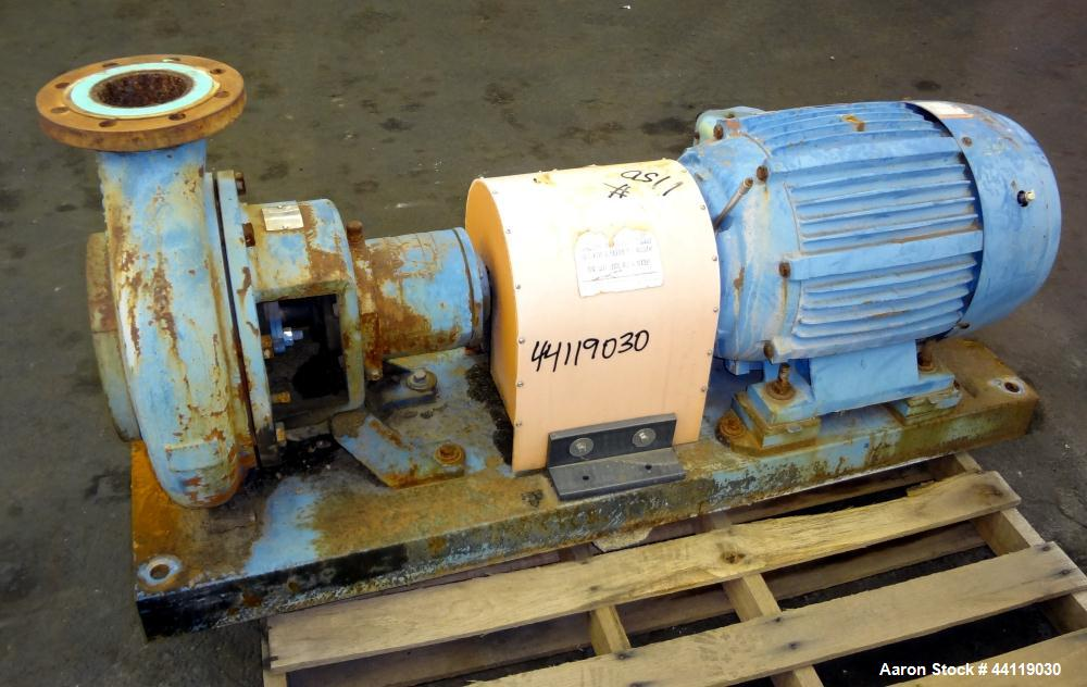 "Used- Ingersoll Rand Centrifugal Pump, Size 6X4X13, Model D 1011, Carbon Steel. 6"" Inlet, 4"" outlet, approximate 12-1/2"" dia..."