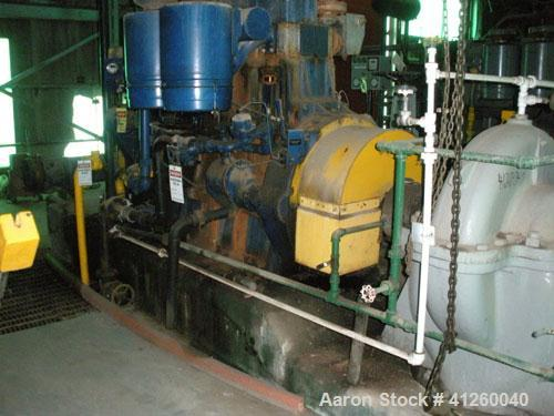 Used-Ingersoll-Rand Pump with natural gas motor, approximately 8340 gpm, approximately 360 hp motor.