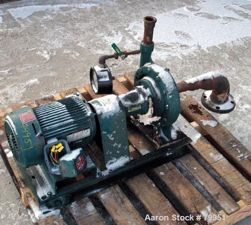 "USED: ITT Marlow centrifugal pump, model 1 1/4.9SLS, carbon steel. 2"" inlet, 1-1/4"" outlet, 9.375"" diameter impeller. Driven..."