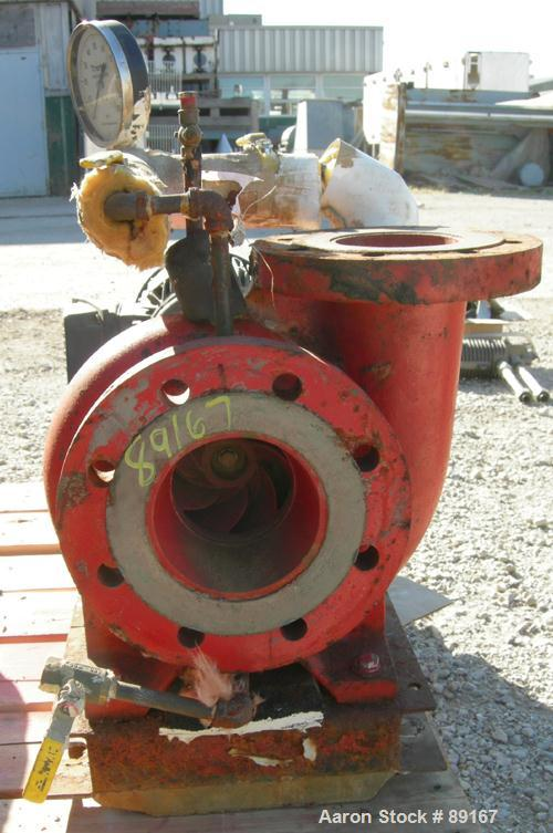 "Used- ITT Bell & Gossett Centrifugal Pump, model 4AC-5.25BF,carbon steel. 5"" inlet, 4"" outlet. Approximate capacity 360 gall..."