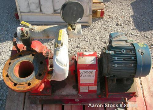 """Used- ITT Bell & Gossett Centrifugal Pump, model 4AC-5.25BF, carbon steel. 5"""" inlet, 4"""" outlet. Approximate capacity 360 gal..."""