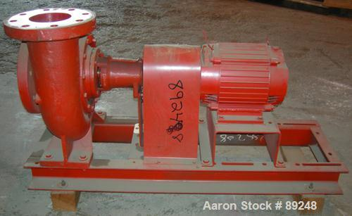 """Used- ITT Bell & Gossett Centrifugal Pump, model 5BC-7BF, carbon steel. 6"""" inlet, 5"""" outlet. Approximate capacity 650 gallon..."""