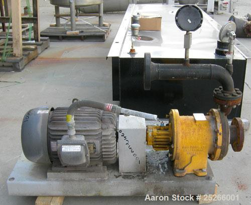 Used- Kontro Sealless Centrifugal Pump, Model HC2DM, carbon steel. Rated 80 gallons per minute at 140' head at 275 psi at 36...