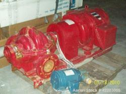 Used- Aurora Fire Pump System, Model 5-481-11C