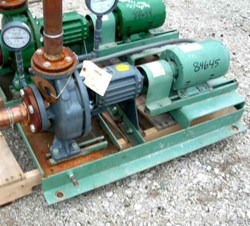 """Used- Taco Centrifugal Pump, Model FM1208, Carbon Steel. 2-1/2"""" Inlet, 2"""" outlet. Approximate capacity 35 gallons per minute..."""