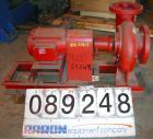 Used- ITT Bell & Gossett Centrifugal Pump, model 5BC-7BF, carbon steel. 6