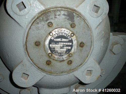 Used-Worthington Water Pump driven by a White Superior natural gas engine, model 6-G825, 395 hp, 880 rpm.