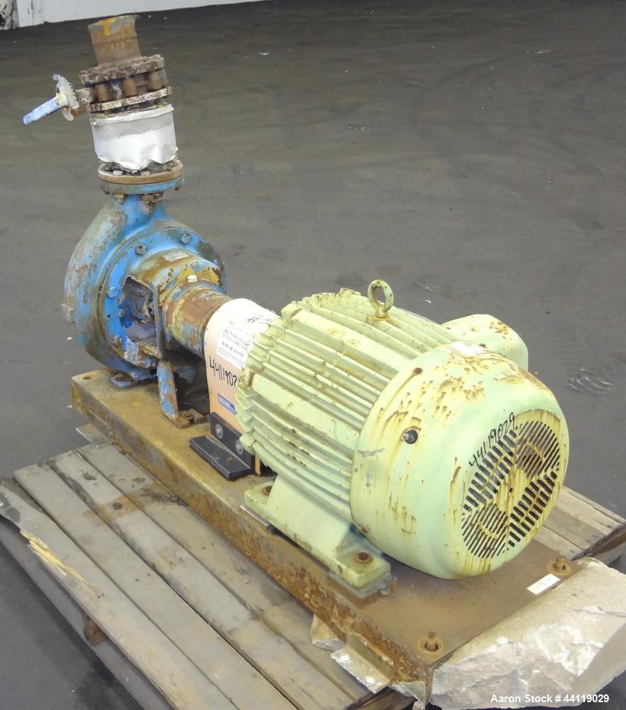 """Used- Worthington Centrifugal Pump, Size 6X4X13, Model D 1011, Carbon Steel. 6"""" Inlet, 4"""" outlet, approximate 13"""" diameter i..."""