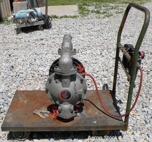 """Used- Husky Air Operated DoubleDiaphragm Pump, Series E98A, 316 Stainless Steel.2"""" NPT inlet/outlet. Rated maximum 100 ga..."""