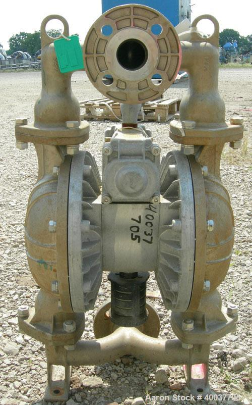 Used- Yamada Diaphragm Pump, Model NDP-40BST, 316 stainless steel. 116 gallons per minute max capacity, max solids size 9/32...