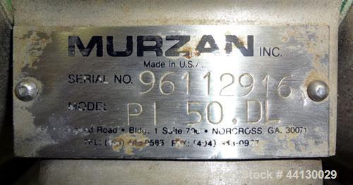 Used- Murzan Sanitary Diaphragm Pump, Model PI 50 DL, 304 Stainless Steel. Approximate 100 gallons per minute at 40 psig req...
