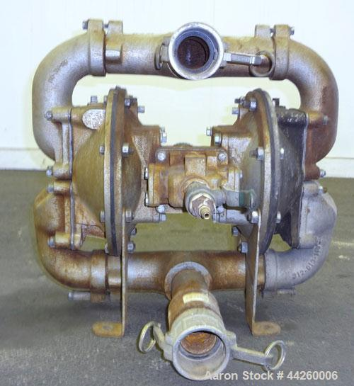 "Used- Diaphragm Pump, Carbon Steel. 2"" Inlet/outlet."