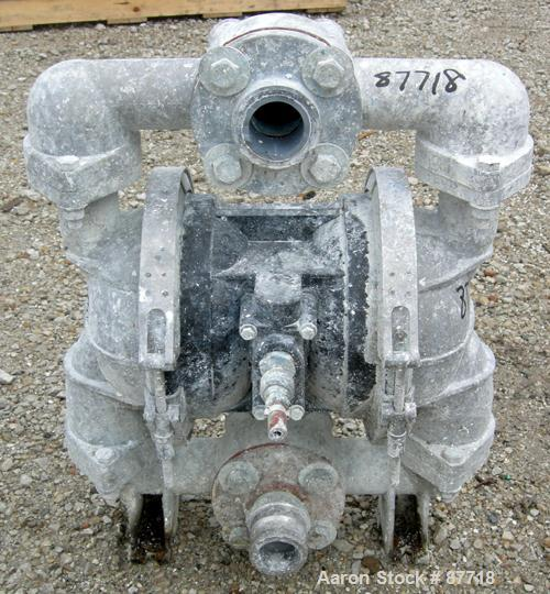 "Used- Double Diaphragm Pump, Aluminum. 2-1/2"" NPT inlet, 2-1/2"" PVC outlet."