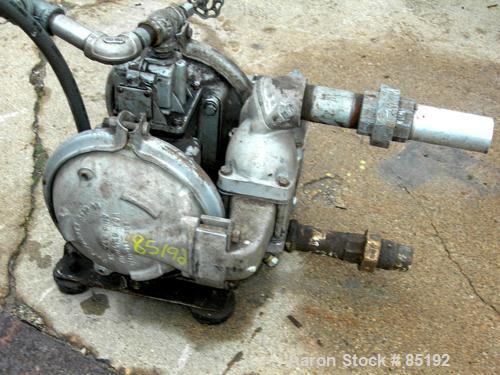 "Used- Sandpiper Air Powered Double Diaphragm Pump, Model SB1 1/2-A, Aluminum. Rated 0-90 gallons per minute, 1/4"" max solids..."