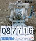 Used- Double Diaphragm Pump, Aluminum. 2-1/2