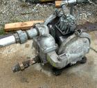Used- Sandpiper Air Powered Double Diaphragm Pump, Model SB1 1/2-A, Aluminum. Rated 0-90 gallons per minute, 1/4