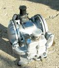 USED: Sandpiper air powered double diaphragm pump, model SB1-A, type SGN-4-SS, 316 stainless steel. Rated 42 gallons per min...