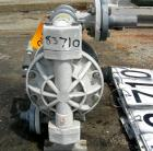 USED: Versa Matic air operated double diaphragm pump, model PVM1.0-TFTFTES, polypropylene. Rated 37 gallons per minute, 150 ...