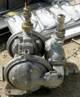 Used- Warren Air Operated Double Diaphragm Pump, 316 Stainless Steel. 1-1/2