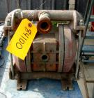 Used- Wilden Air Operated Double Diaphragm Pump, Model M4, Aluminum Construction. Rated approximately 93 gallons per minute,...