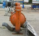 USED: Wilden air operated double diaphragm pump, model M5, 316 stainless steel. Rated 108 gallons per minute, 125 psi, 5/16