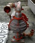 Used- Wilden Air Operated Double Diaphragm Pump, Model M8, Aluminum Construction. Rated approximately 156 gallons per minute...