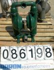 USED: Wilden air operated double diaphragm pump, model M8, 316 stainless steel. Rated 163 gallons per minute, 1/4