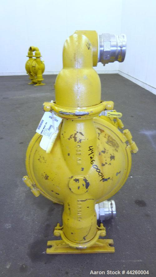 """Used- Versa-Matic Diaphragm Pump, Model E3CA3R330-OE, Carbon Steel. Rated approximately 0-260 gallons per minute, 0.375"""" max..."""