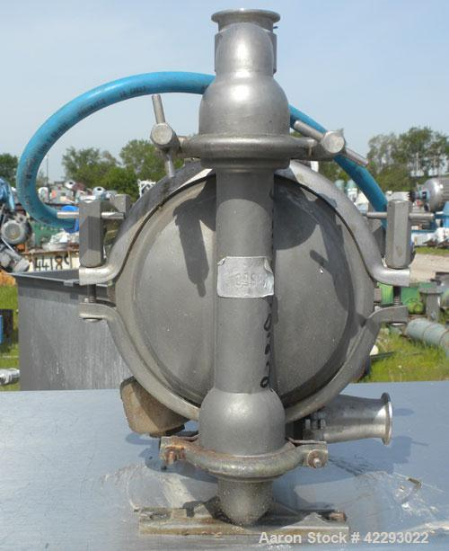 Used- Versa-Matic Tool Air Powered Diaphragm Pump, Model V125F VTTFVT, 316 L Stainless Steel. Rated approximately 0-138 gall...