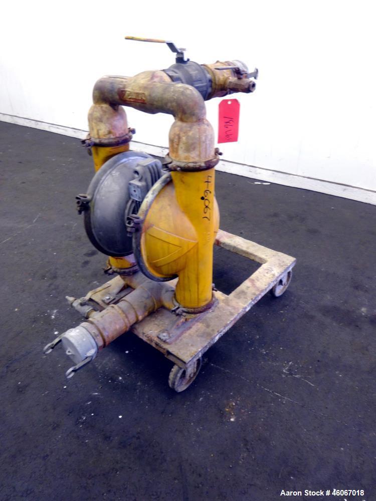 "Used- Versa-Matic Air Powered Diaphragm Pump, Model V351, Aluminum. Approximate 0-180 gallons per minute, 3/8"" maximum solid..."