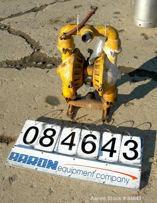 "Used- Versamatic Air Powered Double Diaphragm Pump, Model VS.0.FXLNEXL, Aluminum. Rated 138 gallons per minute, 1/4"" maximum..."