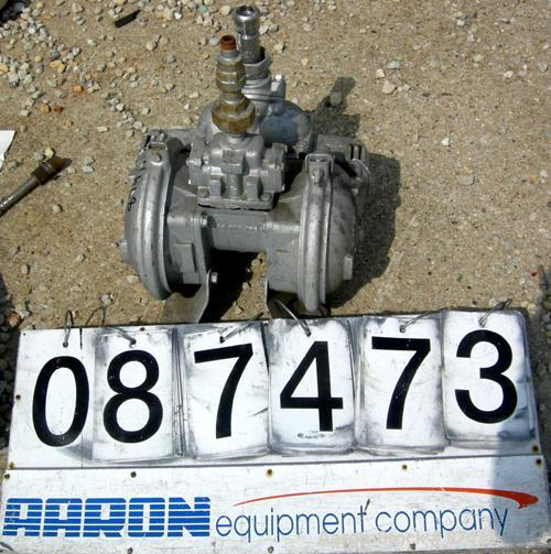 """Used- Warren Air Operated Double Diaphragm Pump, 316 Stainless Steel. 1-1/2"""" inlet, 1"""" outlet."""