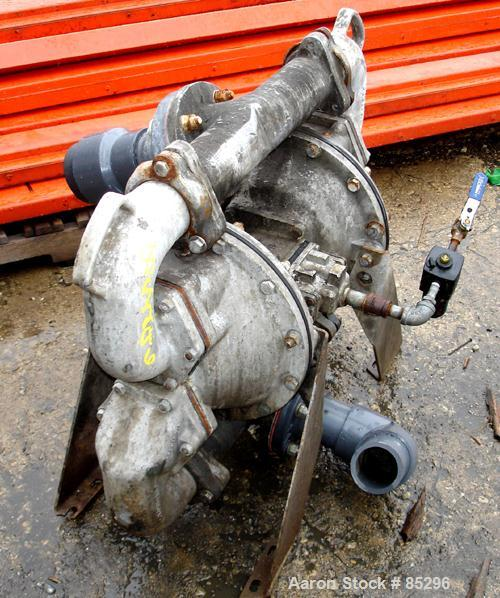 """USED: Warren Rupp Sandpiper air powered double diaphragm pump,aluminum. Rated approx 260 gallons per minute, 3"""" max solids h..."""