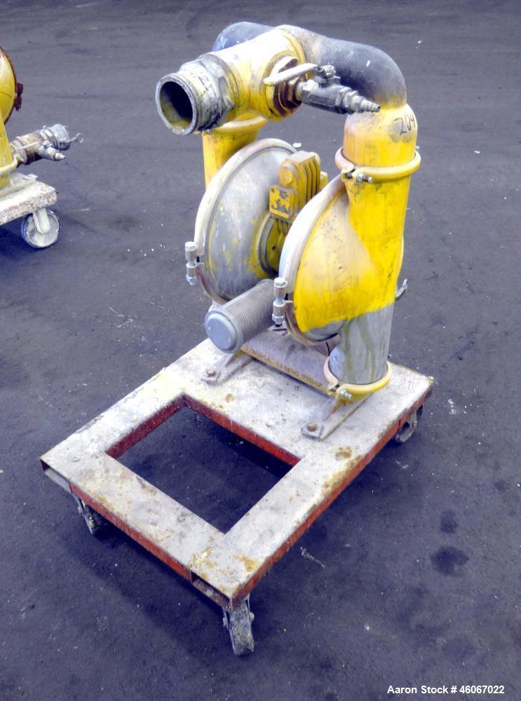 "Used- Wilden Air Operated Double Diaphragm Pump, Model M15, Aluminum. Approximate 243 gallons per minute, 3/8"" diameter maxi..."