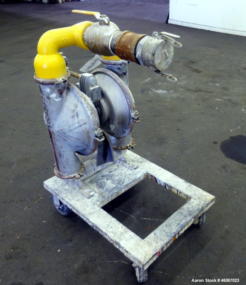 "Used- Wilden Air Operated Double Diaphragm Pump, Model M15, Aluminum. Approximate 243 gallons per minute, 3/8"" diameter maxi..."